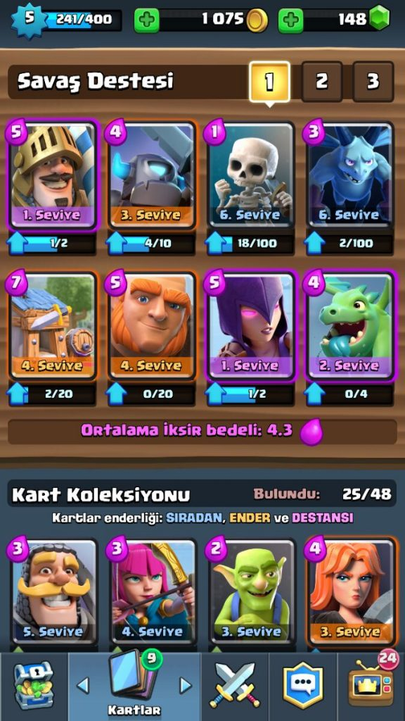 En İyi Clash Royale Kart Destesi